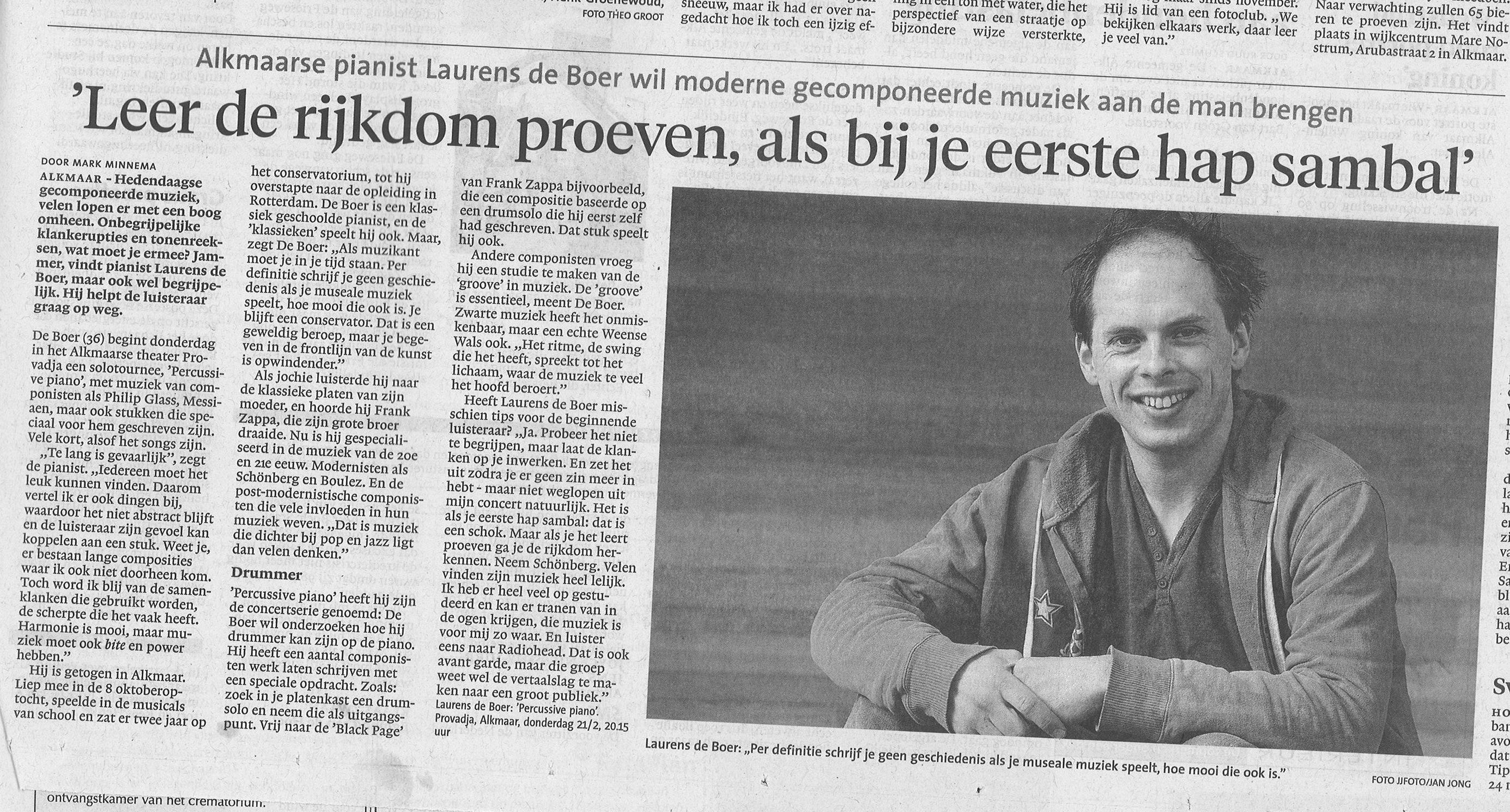 NHD 15-2-2013 Laurens de Boer