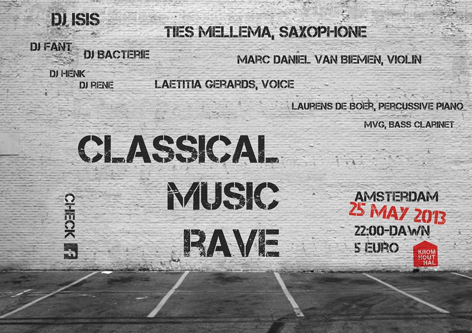 poster classical music rave