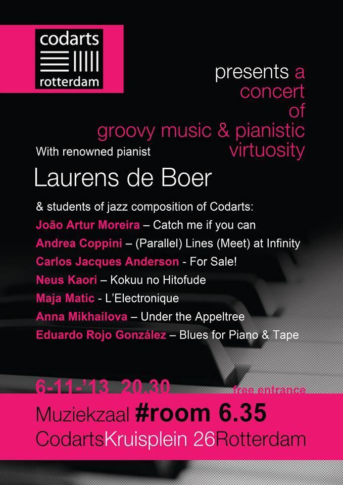 Poster Codarts Concert 06112013